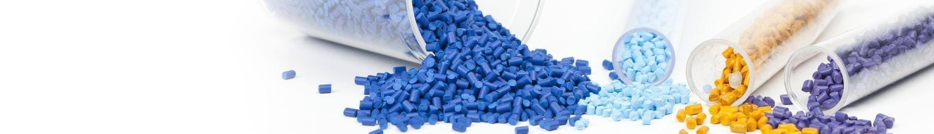 Wtórplast Recykling - baner - kolorowe materiały wtórne